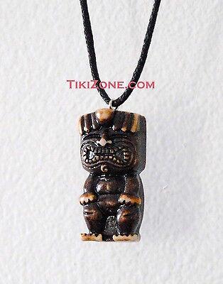 Happy Tiki Man Necklace Perfect for Your Next Tropical Island Hawaiian Luau - Tiki Man
