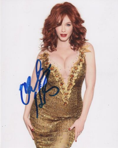 Christina Hendricks Sexy Autographed Signed 8x10 Photo COA D68