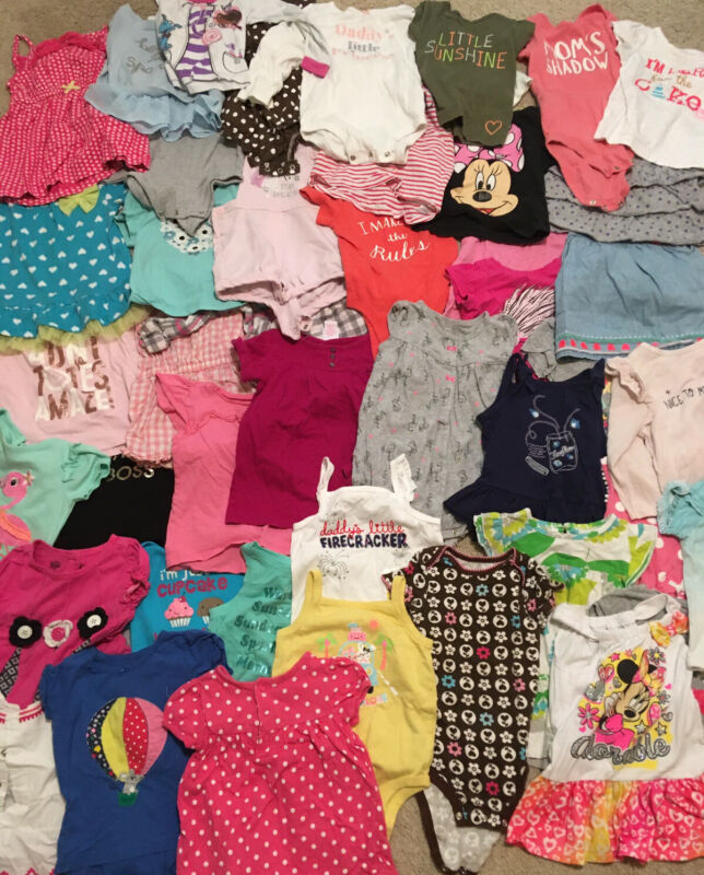 Huge Lot Of 61 Baby Girl Clothes Size 18 - 24 Months Cute Spring Summer