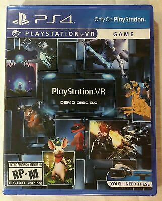 PS4 Playstation 4 VR Demo Disc 2.0 Brand New Factory Sealed With Plastic Wrap