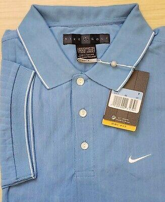 Mens Nike Golf Dri-Fit Polo Shirt  Medium Blue