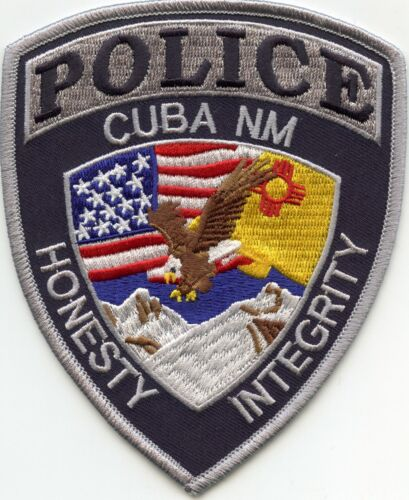 CUBA NEW MEXICO NM colorful POLICE PATCH