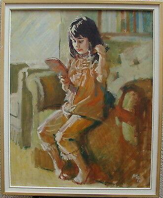 Mädchen mit Spiegel, Monogramm MLj, um 1960/70