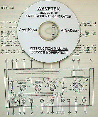 Wavetek 2002 Sweep Signal Generator Instruction Manual Operating Service
