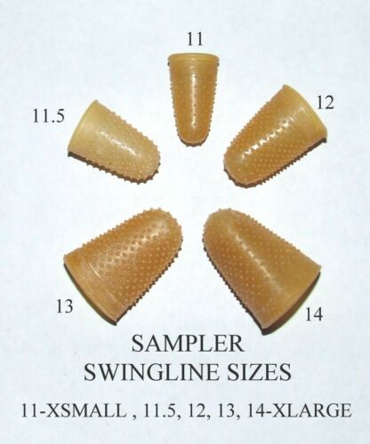 Rubber Finger Tips(Thimbles), Sampler All 5 sizes (11,11.5,12,13,14)