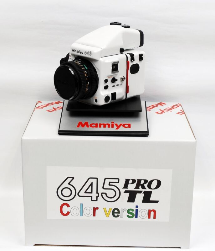 Mamiya 645 PRO TL SPECIAL ULTRA-RARE EDITION ((( COLOR SET ))) PEARL WHITE !!!