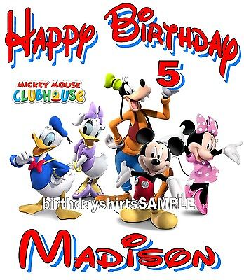 NEW Personalized Custom Mickey Mouse clubhouse birthday t shirt party favor #2