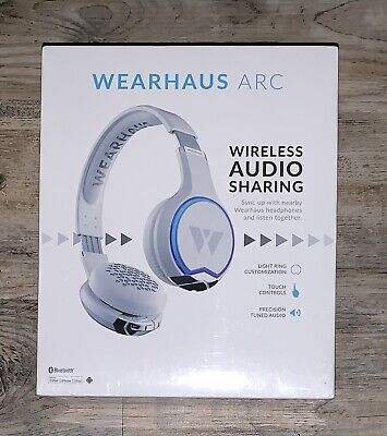 Wearhaus Arc Wireless Bluetooth Audio Sharing Touch Headphones White Sealed NEW