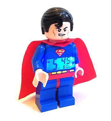 """DC Comics Lego SUPERMAN 10"""" Mini figure Alarm toy Clock BOXED Batman Justice"""