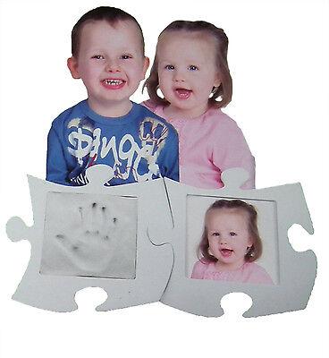 Puzzle Bilderrahmen Handabdruck Fußabdruck vom Baby Kind Geschenk für Oma Opa gebraucht kaufen  Wernberg-Köblitz