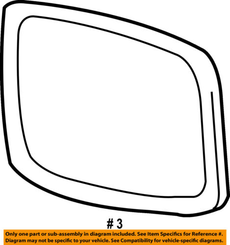 Genuine Toyota 87961-33620 Rear View Mirror Sub Assembly