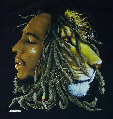 BOB MARLEY T Shirt Lion (L) Large 311 steel pulse 420 rebelution dirty heads