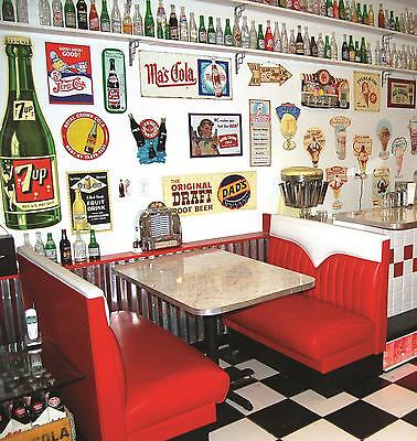 New Hot Rod Chevie Diner Booth Set Restaurant Cafe