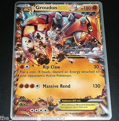 Groudon Ex 85 160 World Championship Promo Pokemon Card Near Mint