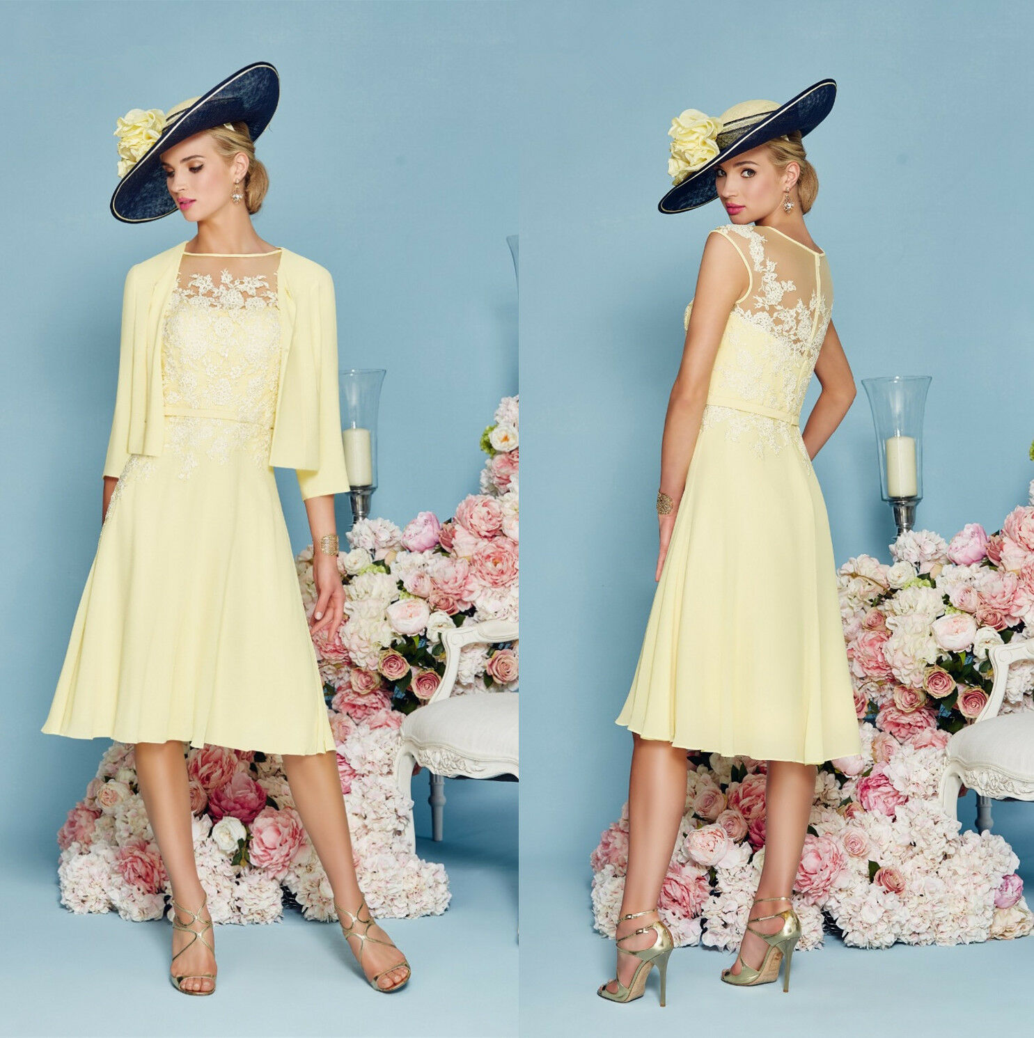 Yellow Mother Of The Bride Dresses - Discount Wedding Dresses