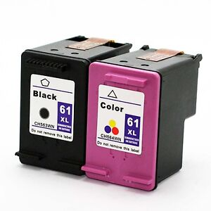 2 pk HP 61 XL Ink Cartridge For DeskJet 1000 3000 1050 1055 2050 Printer