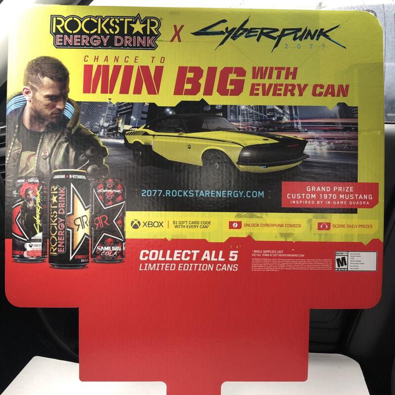 Cyberpunk 2077 Rockstar Energy Promo Sign