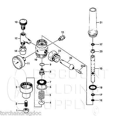 Repair Kit-victor 0790-0119 Hrvhrf 2380 Regulator-flowmeter - Complete Av2380rk
