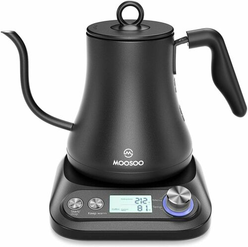 MOOSOO Electric Gooseneck Kettle with Variable Temperature Control
