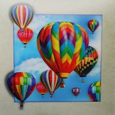 3D Lenticular Poster - Hot Air Balloons Rising -16 x16 Print -