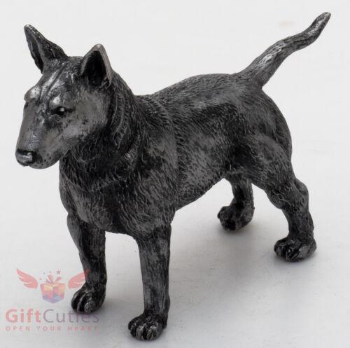 Tin Pewter Figurine of Pit Bull Terrier Dog IronWork
