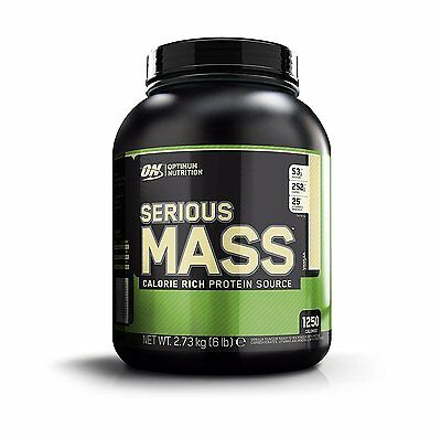 (Optimum Nutrition Protein Serious Mass Gainer Weight Whey Creatine Vanilla GYM)