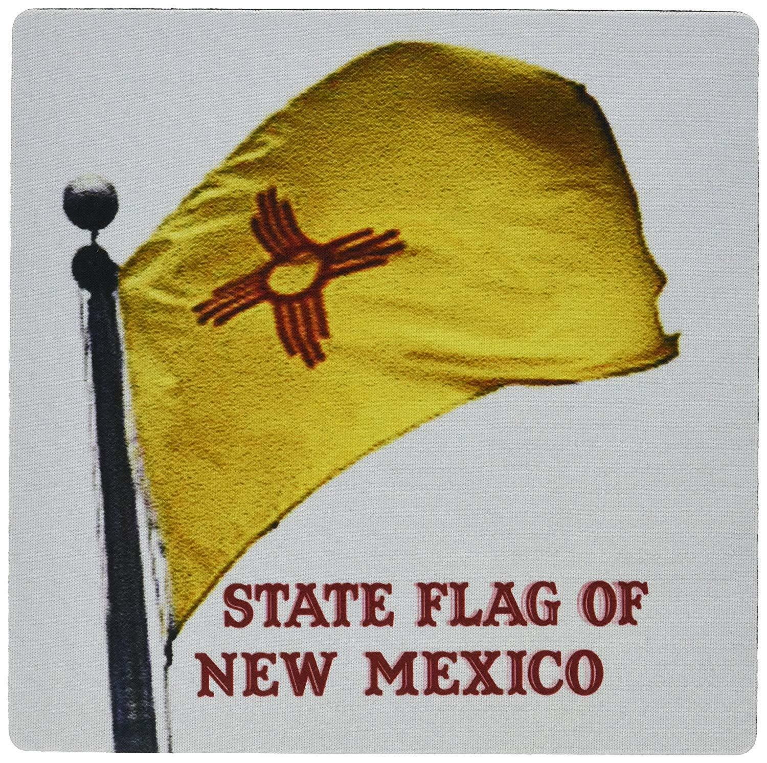 3dRose LLC 8 x 8 x 0.25 Inches State Flag of New Mexico, Mou