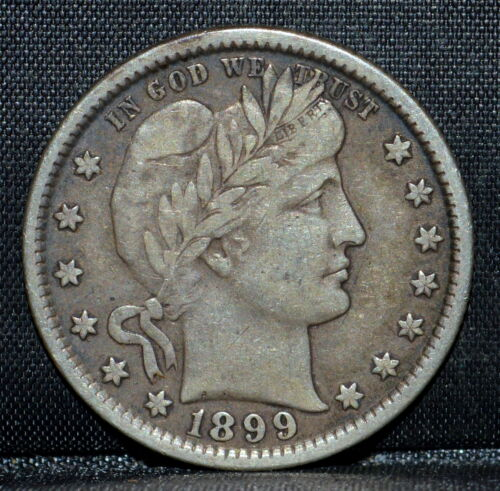 1899-P BARBER QUARTER ✪ CH-VF ✪ 25C SILVER CHOICE VERY FINE L@@K NOW ◢TRUSTED◣