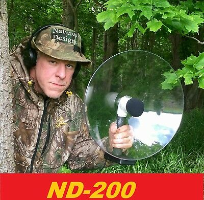 Parabolic Amplifed Microphone,Bird watching, Amplefied Long Range Spy Gear Gift