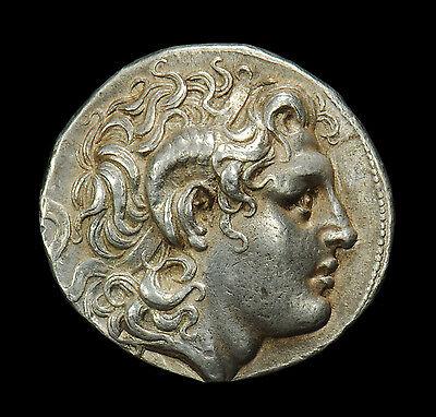 APHRODITE - ANCIENT GREEK SILVER LYSIMACHUS TETRADRACHM (323 - 281 B.C.)