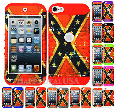 For Apple iPod Touch iTouch 5 | 6 - KoolKase Hybrid Cover Case - Distressed Flag Itouch Ipod Touch
