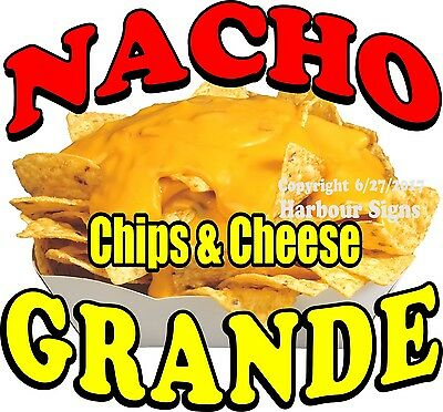 Nacho Grande Decal Choose Your Size Food Truck Concession Vinyl Sticker