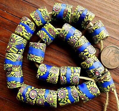20 Beads Glass Antique Murano Africa Antique African Venetian Glass Trade Beads