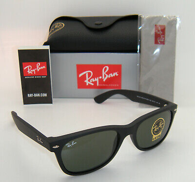 New Authentic Ray-Ban RB2132 622 55mm Rubber Black Frame Green G-15 (Rb2132 Rubber)