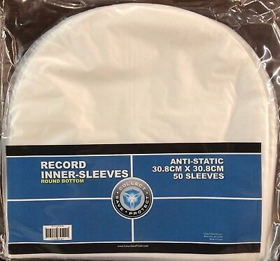 "50 CSP Round Bottom Inner Sleeves for 12"" Vinyl LP Record Albums"