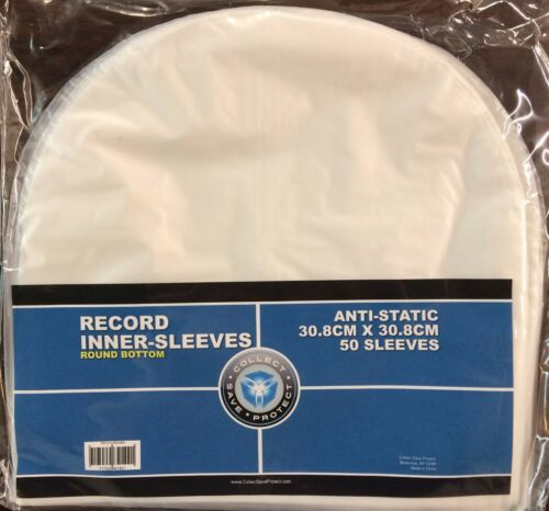 "50 CSP Round Bottom Inner Sleeves for 12"" Vinyl LP Record Albums"