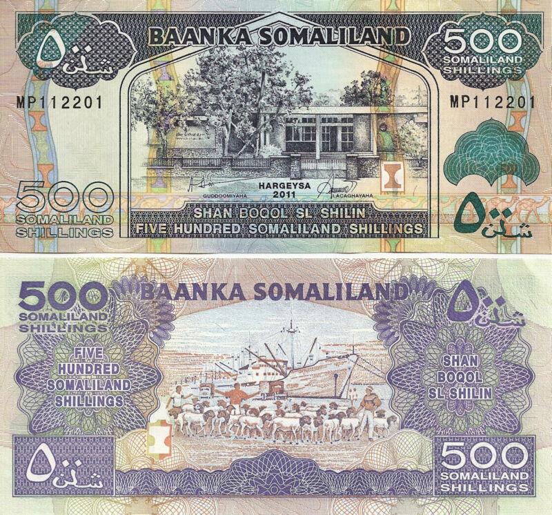 Somaliland 500 Shillings 2011  Uncirculated Note