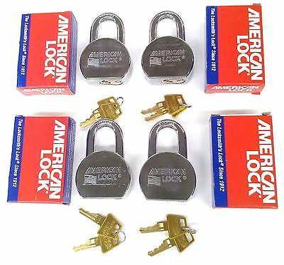 4 New American Lock A700 High Security Solid Steel Padlocks All Keyed Alike