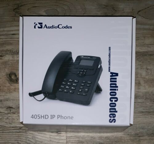AudioCodes 405HD IP Phone VoIP UC405HDEG Black NEW IN BOX