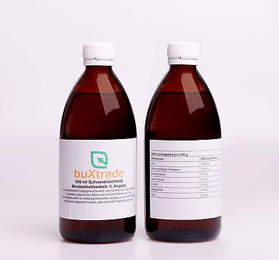 0,5 L Schwarzkümmelöl (Nigella sativa) - kaltgepresst ungefiltert 500ml
