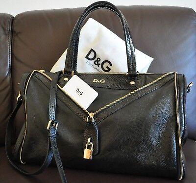 Gabbana Leder Handtasche Schwarz (Original Dolche&Gabbana Leder Handtasche BAG VILMA mit Staubbeutel)