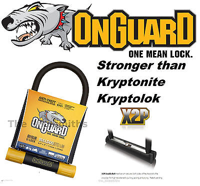 "OnGuard Bulldog 8010LM U-lock Bike 9"" x 4.5"" 2X Locking fit Kryptonite Keeper 12"