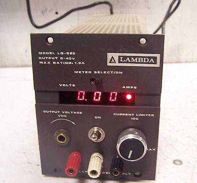 Lambda 0 - 40 Vdc Output Dc Power Supply 105 - 132 Vac Input 47 - 440 Hz Lg-522