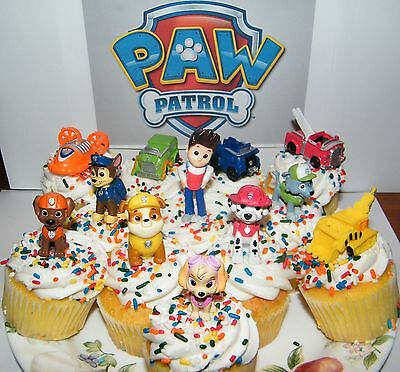 Nickelodeon PAW Patrol Cake Toppers Cupcake Decorations Set of 12 with Gift
