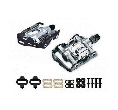 Pedales Mixtos SPD Automatico compatible con Shimano + Calas para Bicicleta 3021