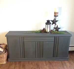 Charcoal grey console