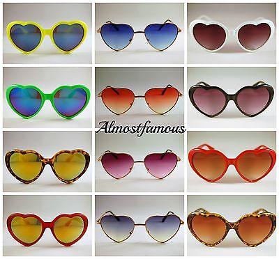 Retro Love Herzförmig Lolita Sonnenbrillen Mode Verkleidung Kostümparty (Herzförmiger Kostüm)