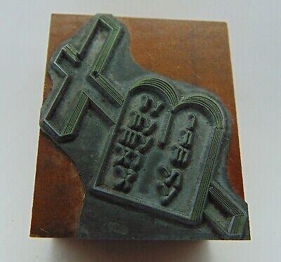 Printing Letterpress Printers Block Cross With Something