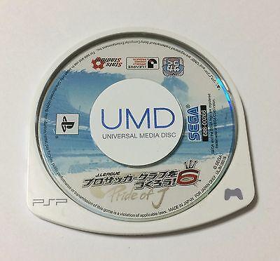 USED PSP Disc Only J-League Pro Soccer Club o Tsukurou 6 Pride of J JAPAN import