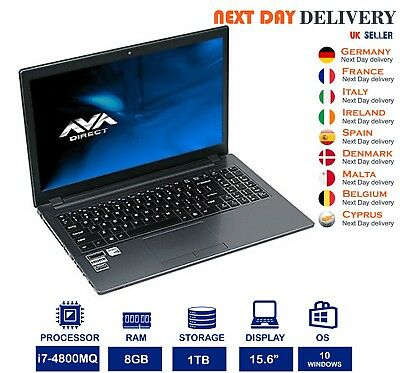 "Sager Clevo W350ST 15.6"" Gaming Laptop Intel i7 2.7Ghz 8GB RAM 1TB HDD GTX 765M"